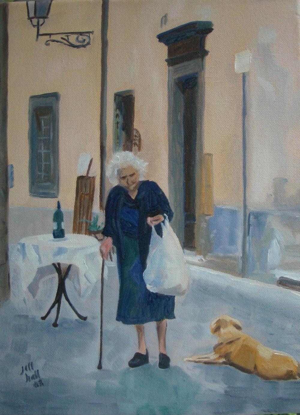 Italian Street Scene - 9x12