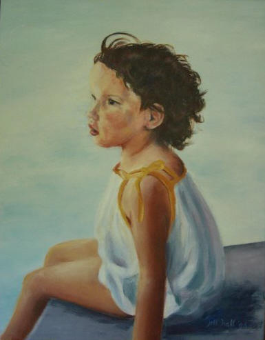 Katherine, age 4 - 14x18