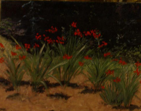 Red Lillies - 16x20