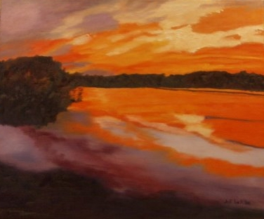 Sunset on the Lake - 16x20