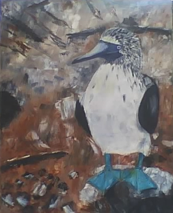 Blue-Footed Booby - 16x20