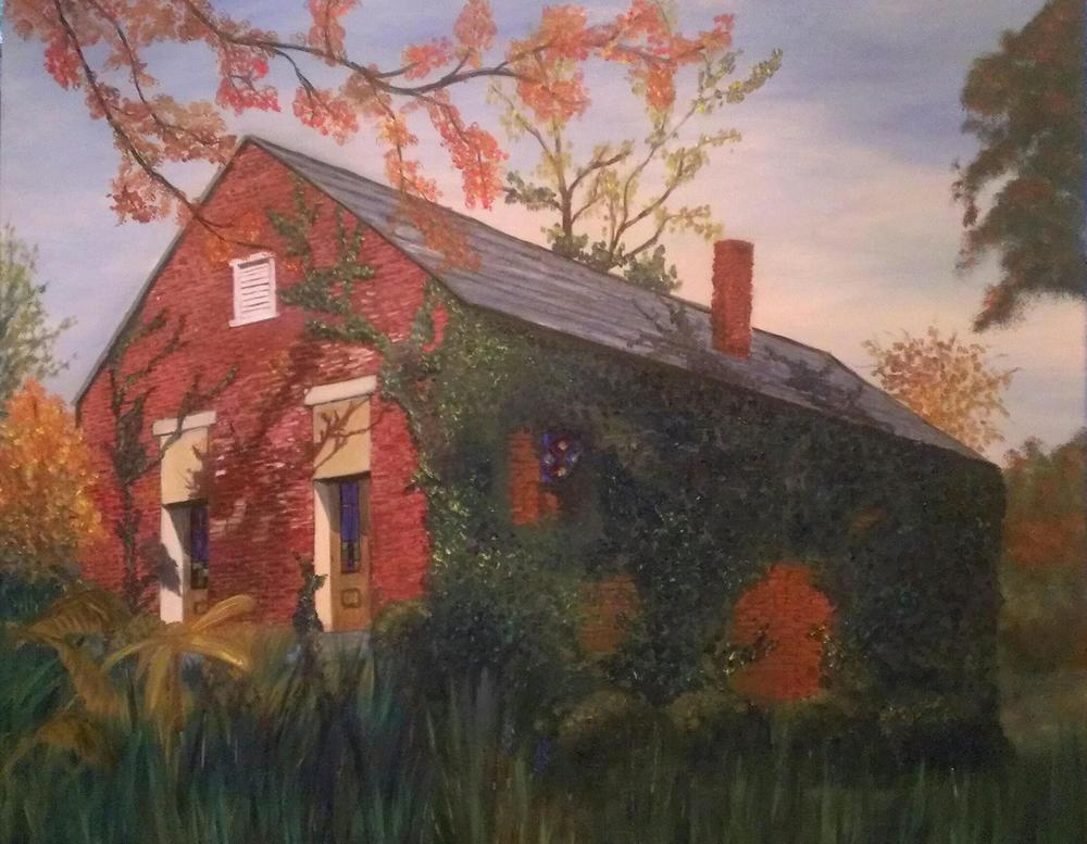 Old Beasley Church - 16x20