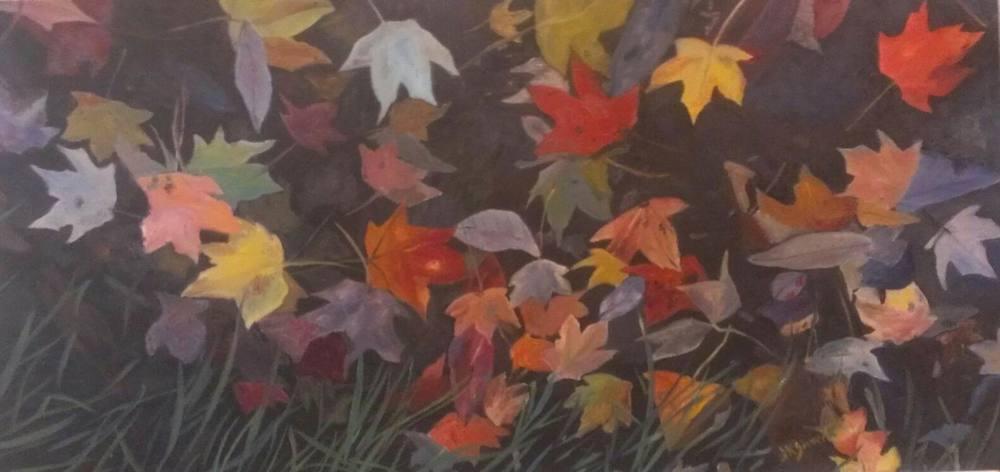 Fall Leaves - 12x24