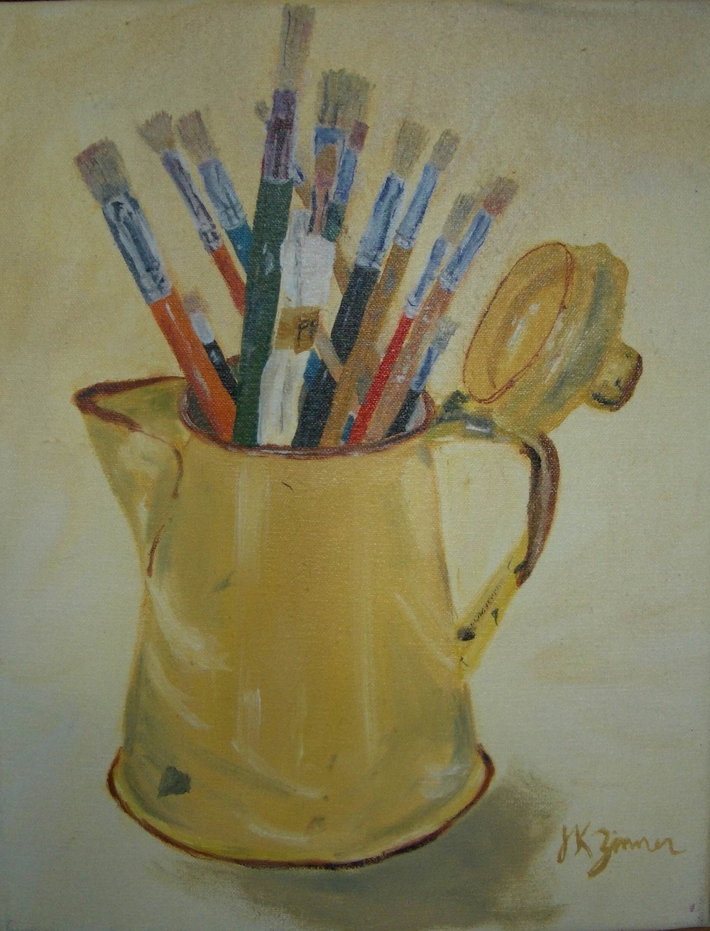 Pitcher with Brushes - 11x14