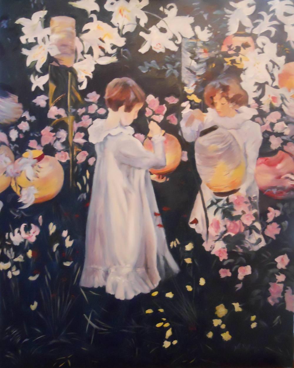 Carnation, Lily, Lily Rose - 30x24