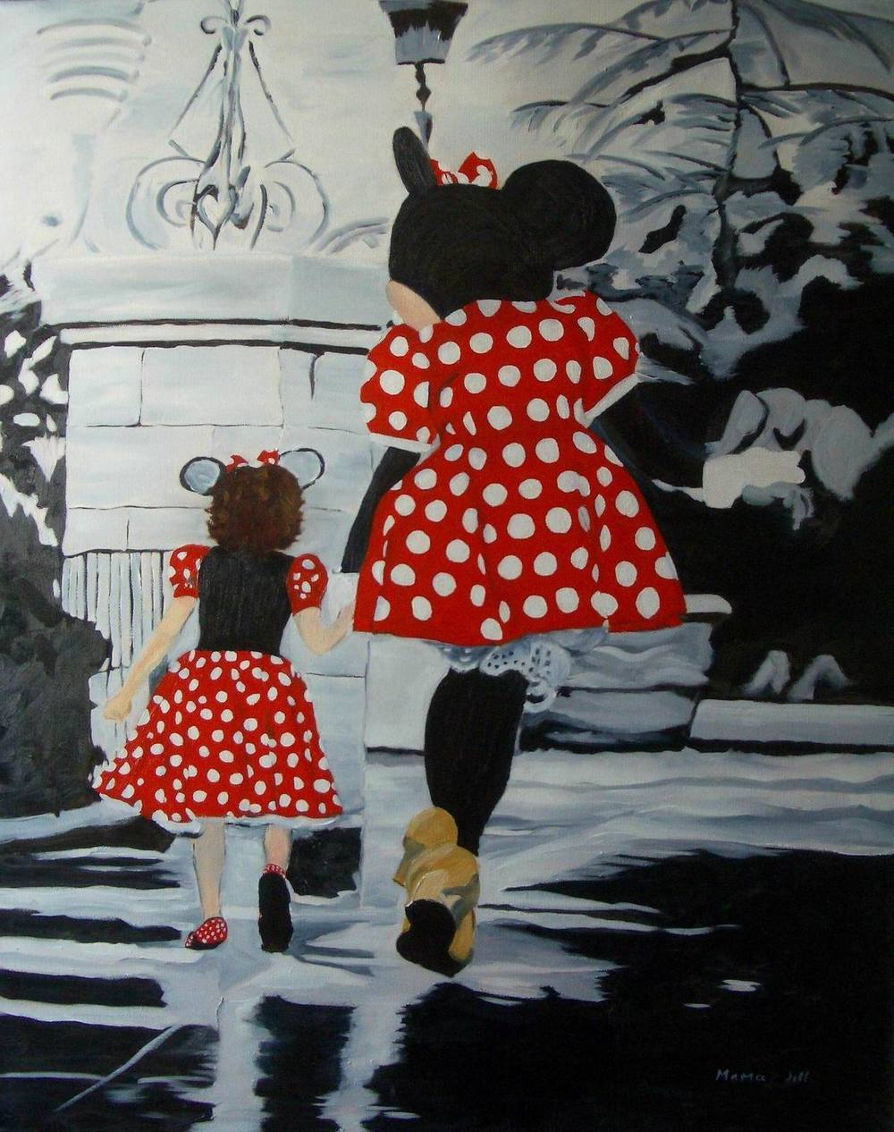 Madi & Minnie - 30x24