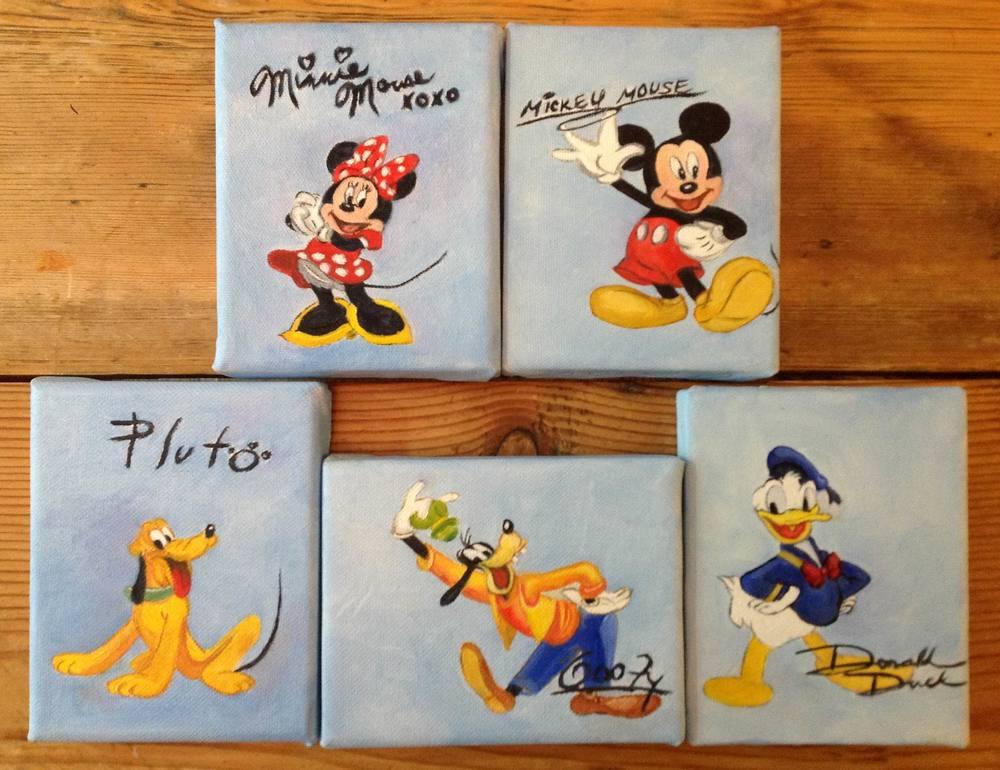 5 Disney Characters - each 3 1/2x5