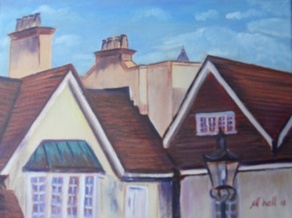 English Rooftops WDW - 9x12