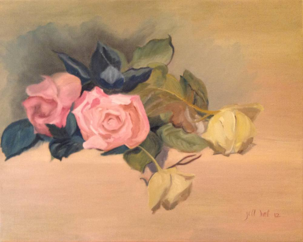 Mother's Roses - 16x20 on linen