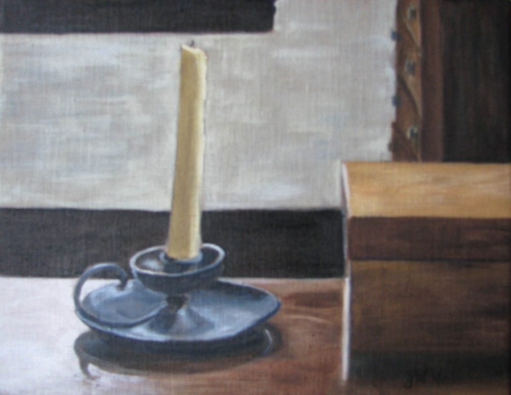 Shaker Candle - 9x12 on linen