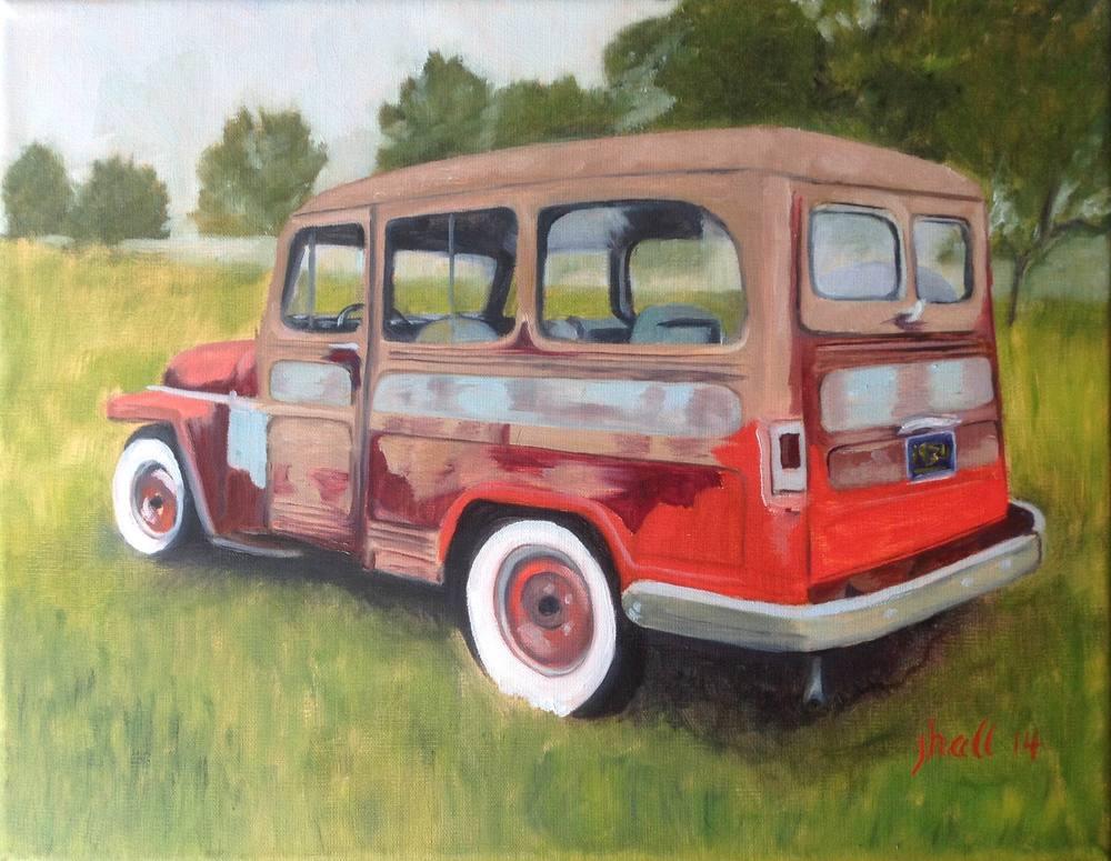 50s Jeepster Wagon - 12X16