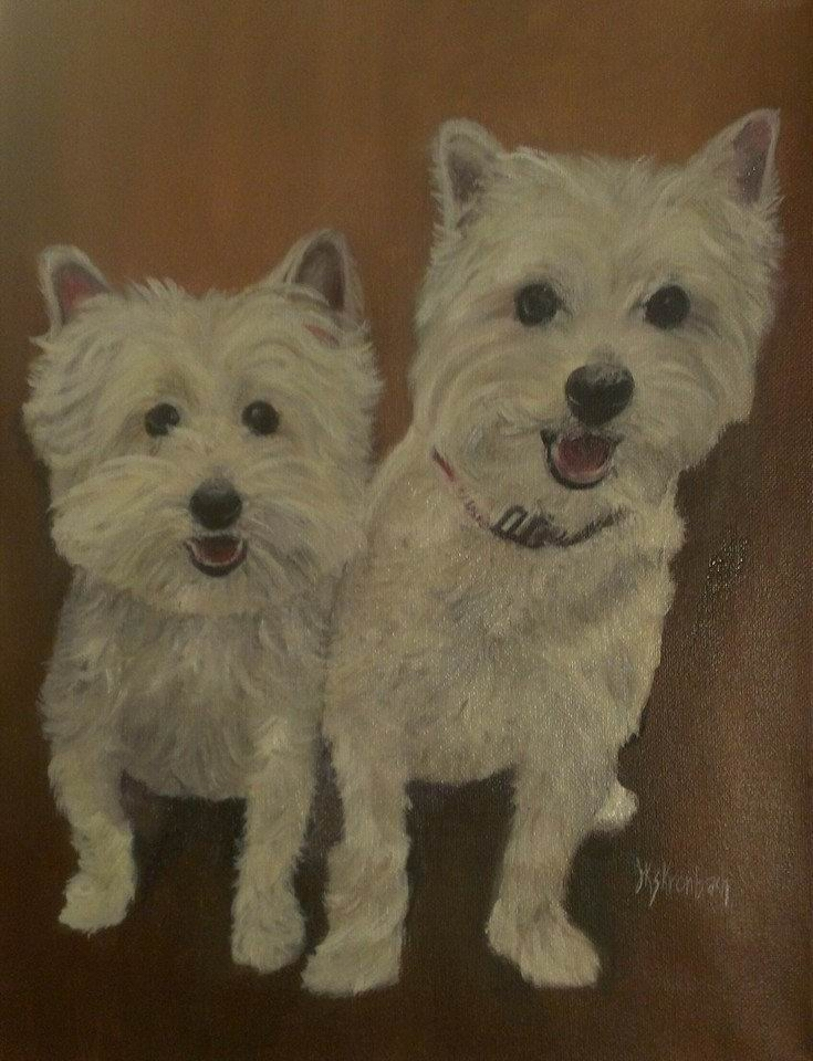 Two Buddies - 9 X 12