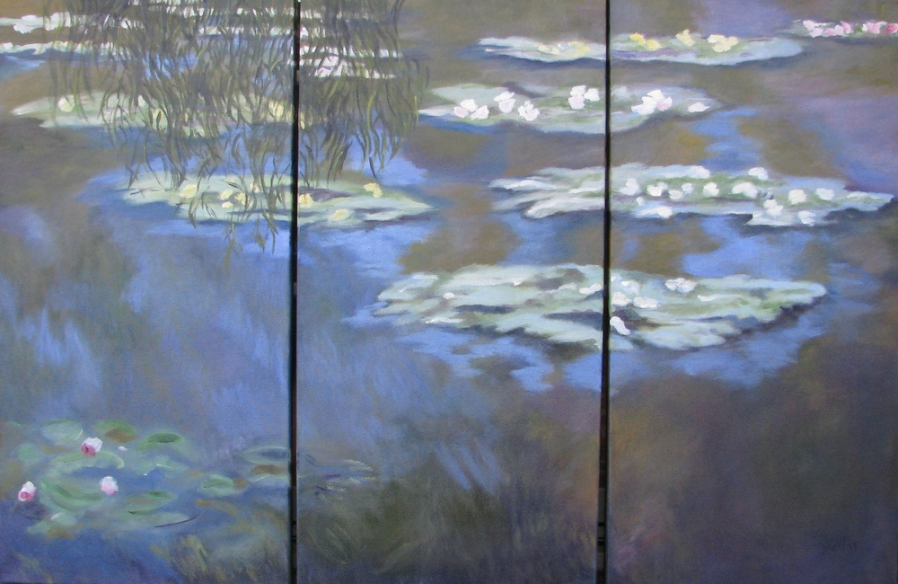 Monet's Water Lillies - Triptych   45 X 3030 X 45