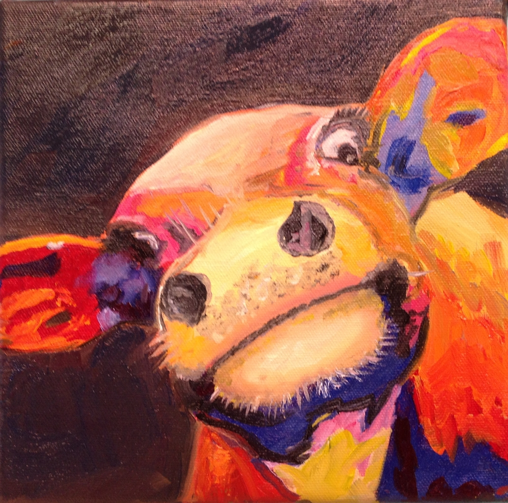 Colorful Cow - 8 X 8
