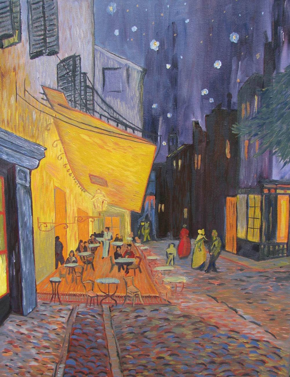 Cafe Terrace on Place de Forum -- 16 X 20