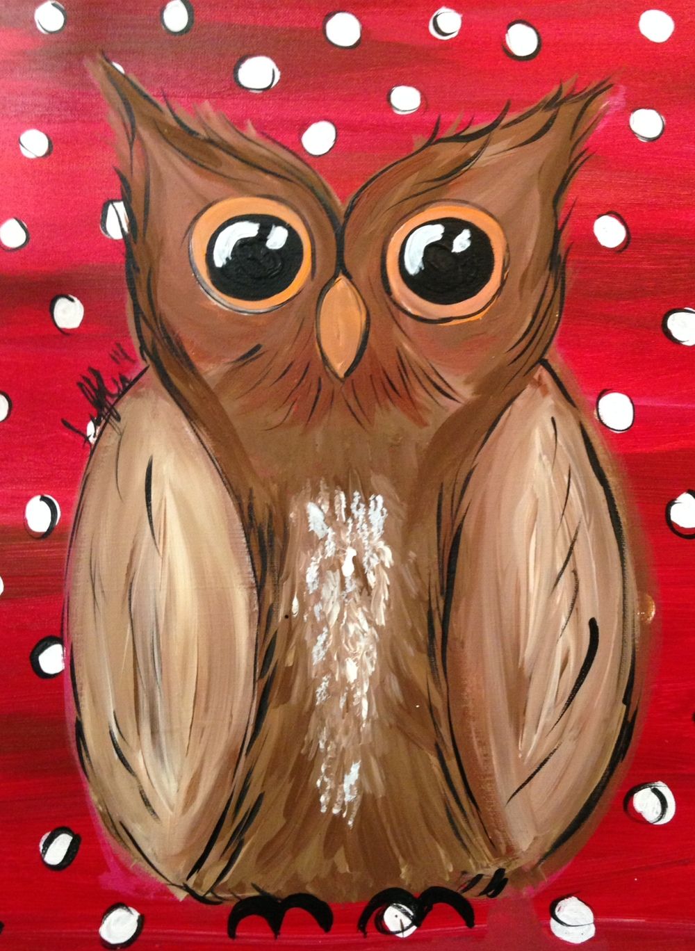 Owl on Red.JPG
