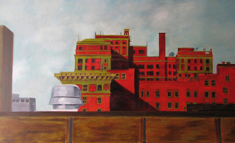 Brown Building - 24 X 36