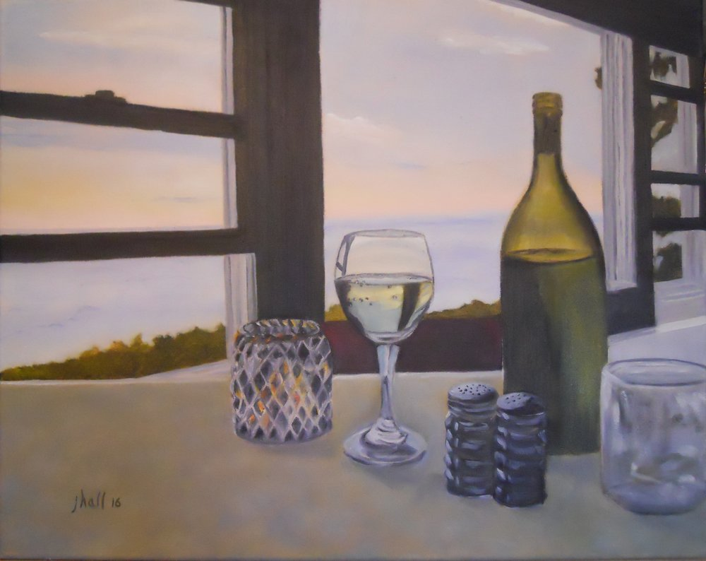 Maine Coast from Seagull Cafe, Pemaquid Pt. - 16 X 20