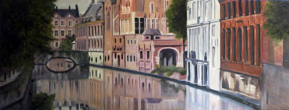 Die Swann, Brugges -- 15 X 30 on linen