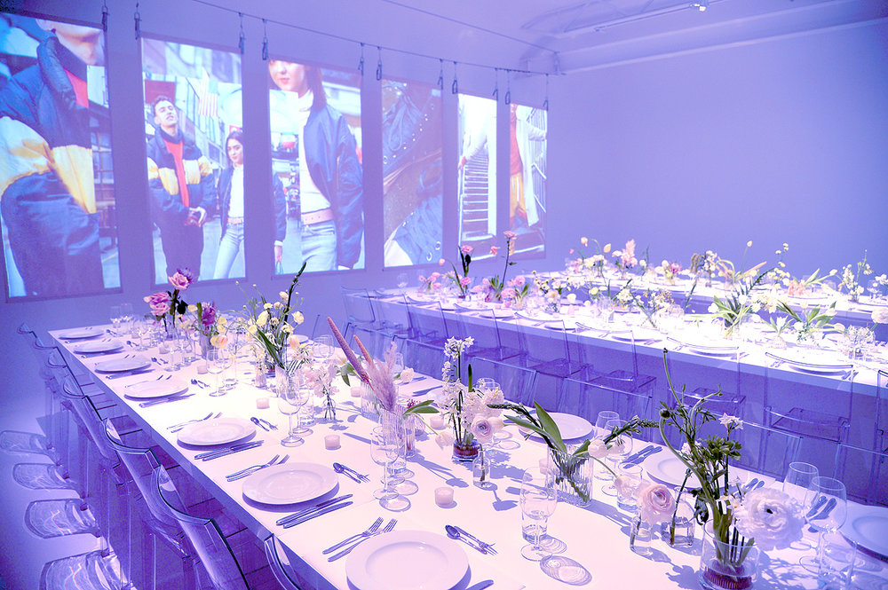 Dinning for 50 x people in the white cove area of Studio A