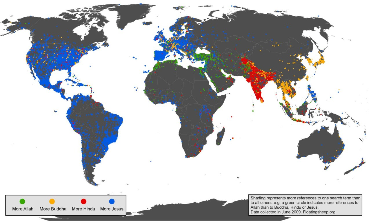 Google's Geographies of Religion.   (via Floating Sheep)