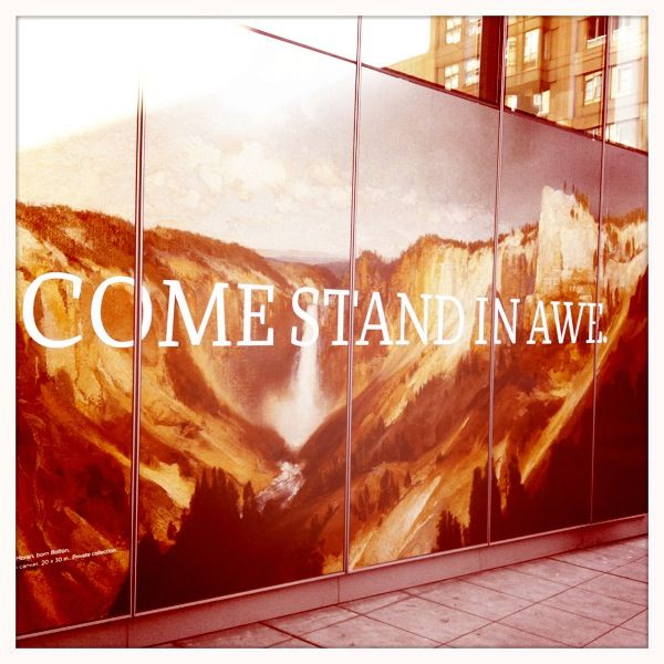 "Signs of God in the city - ""Come Stand in Awe"""