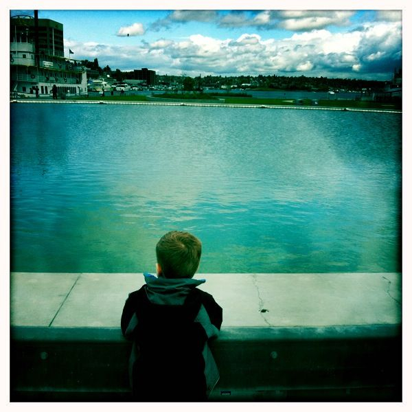 """Daddy, do you think we could have baptisms here?"" ""Great question, buddy."""