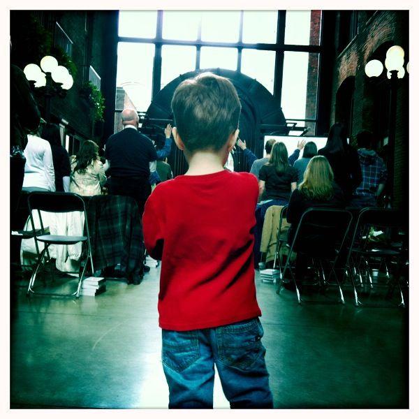 Sunday morning worship through eyes of a 4 year old.