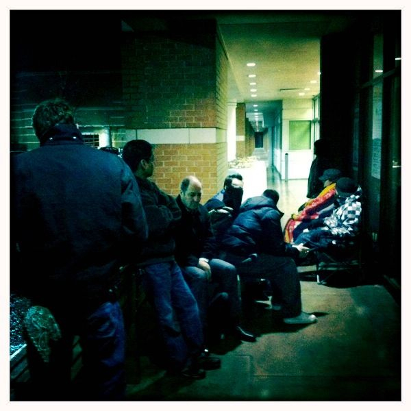 Short line for a new iPad2 shipment this morning. The downside was that it didn't come in!