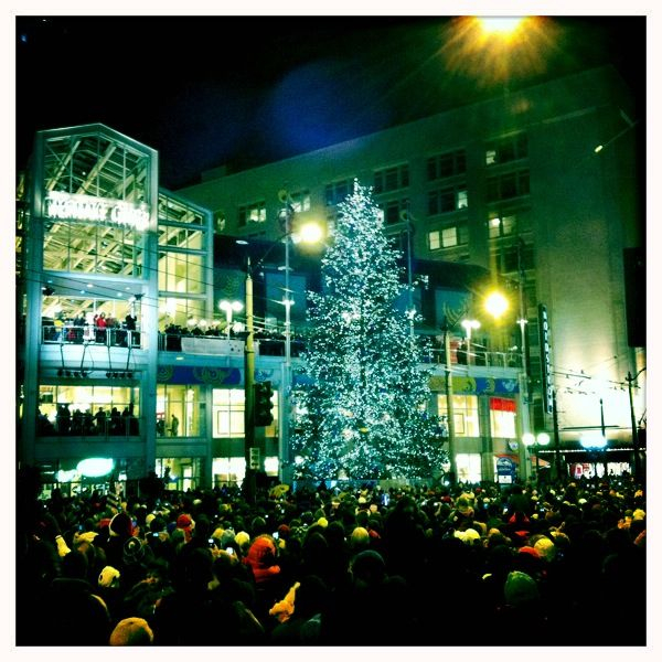 Great night spent with 1/2 the city for the tree and star lighting downtown. Beautiful city.