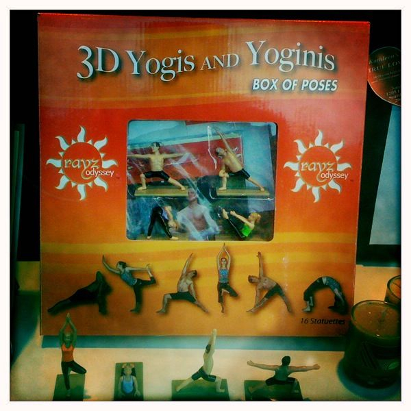 Yoga action figures. Isn't that an oxymoron? I love this city.