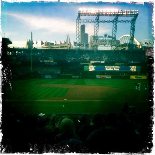 Photo from M's game this week. Ugly game but beautiful city. I love Seattle.