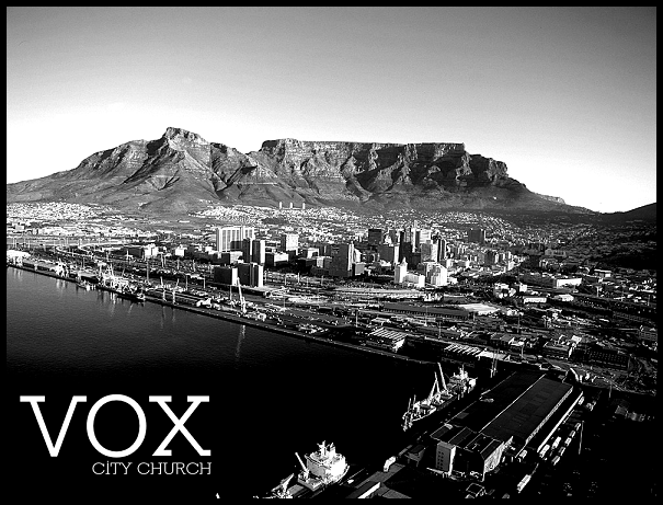 A friend of mine, JD Senkbile, is in the works of getting a church planted (Vox City Church) in Cape Town, South Africa. Be in prayer for him…and maybe consider moving there to help him out.