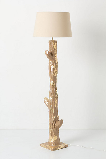 Anthropologie Gilded Bark floor lamp