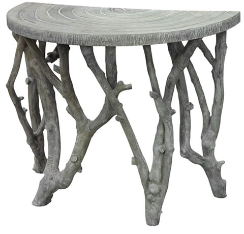 OLY Vincent Half Round Table