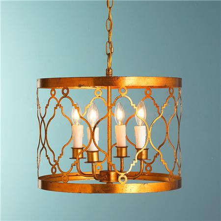 Shades of Light Trellis Drum Pendant