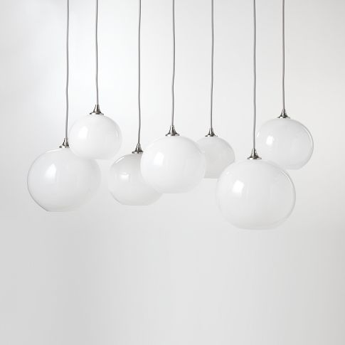 West Elm Glass Orb Chandelier
