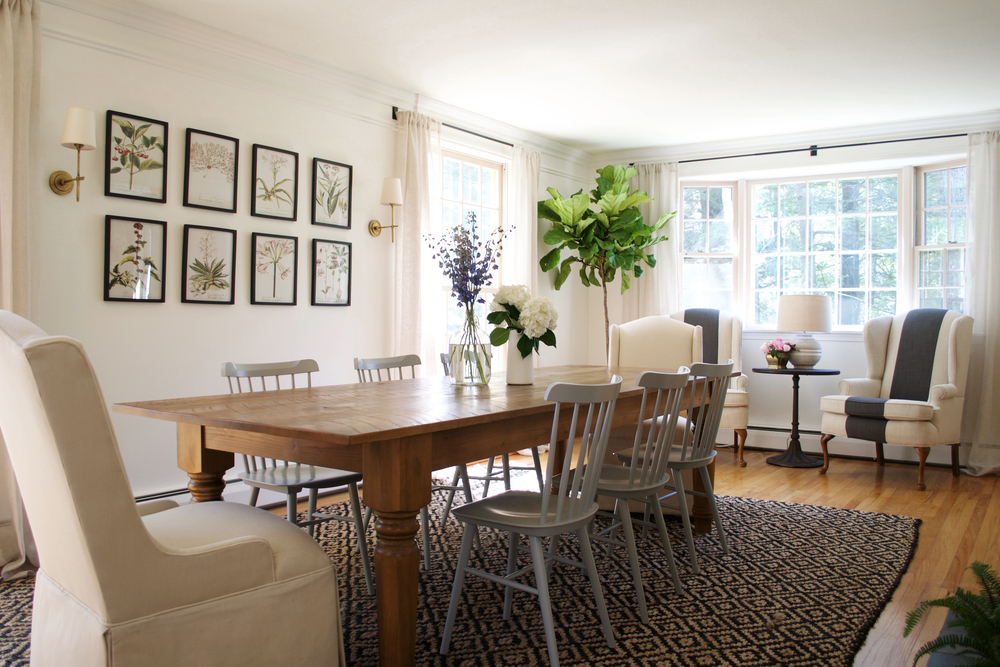 Before after a farmhouse dining room rehabitat Pretty dining rooms