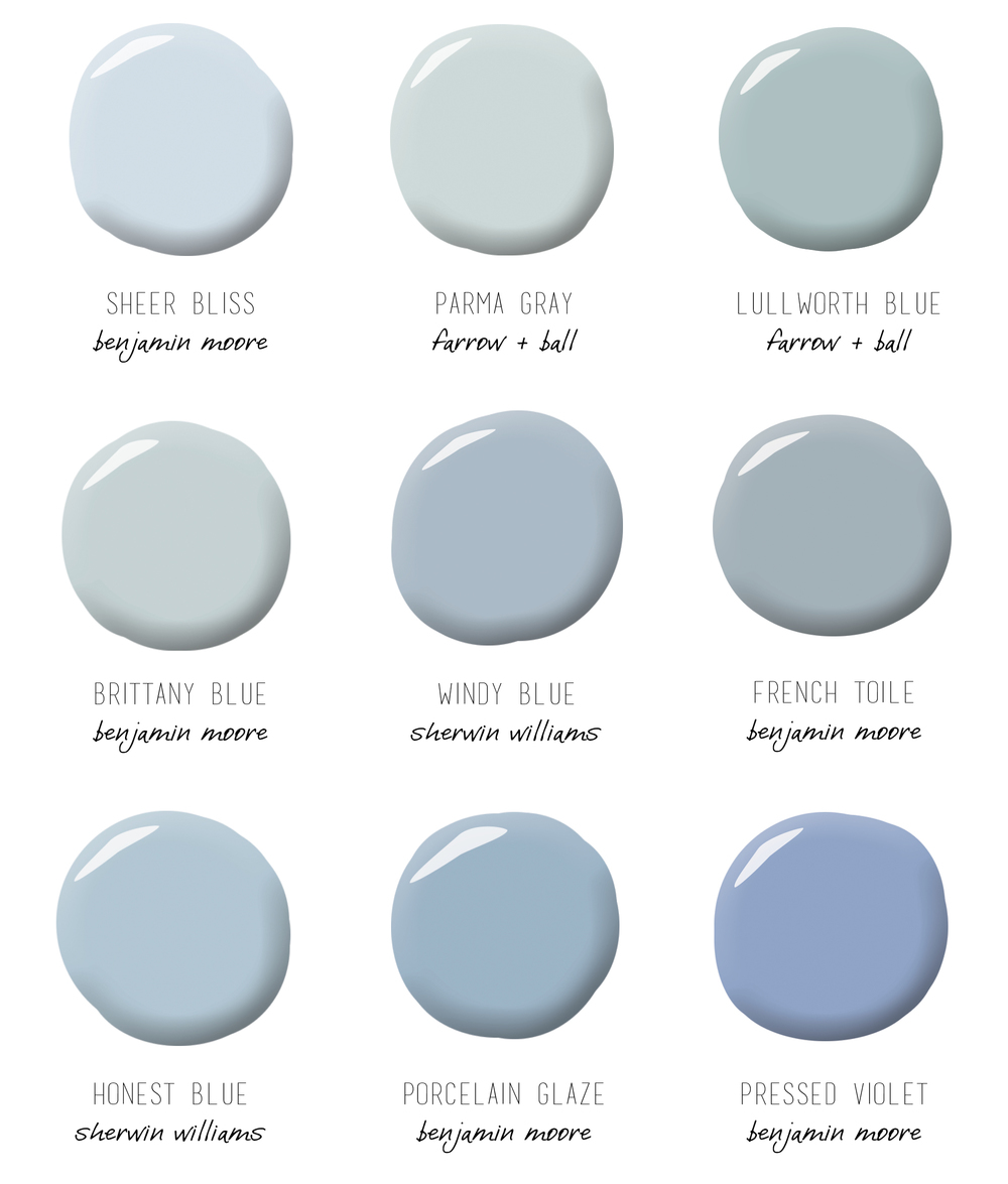 Gray Blue Paint Colors: Repinned: Light Blue
