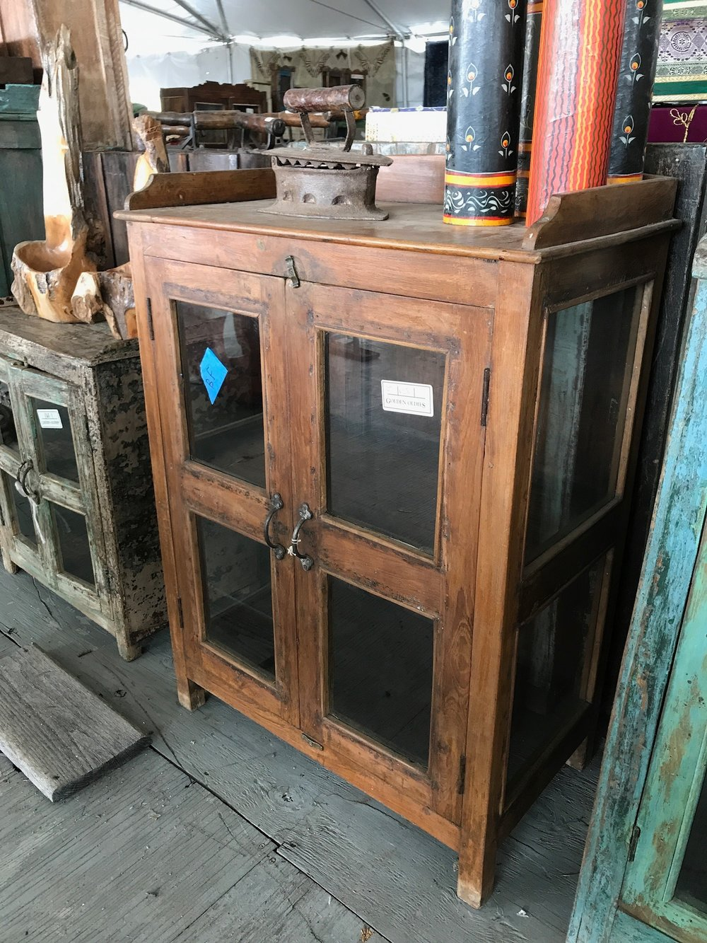 This hutch needs nothing but a happy home and some pretty things inside.
