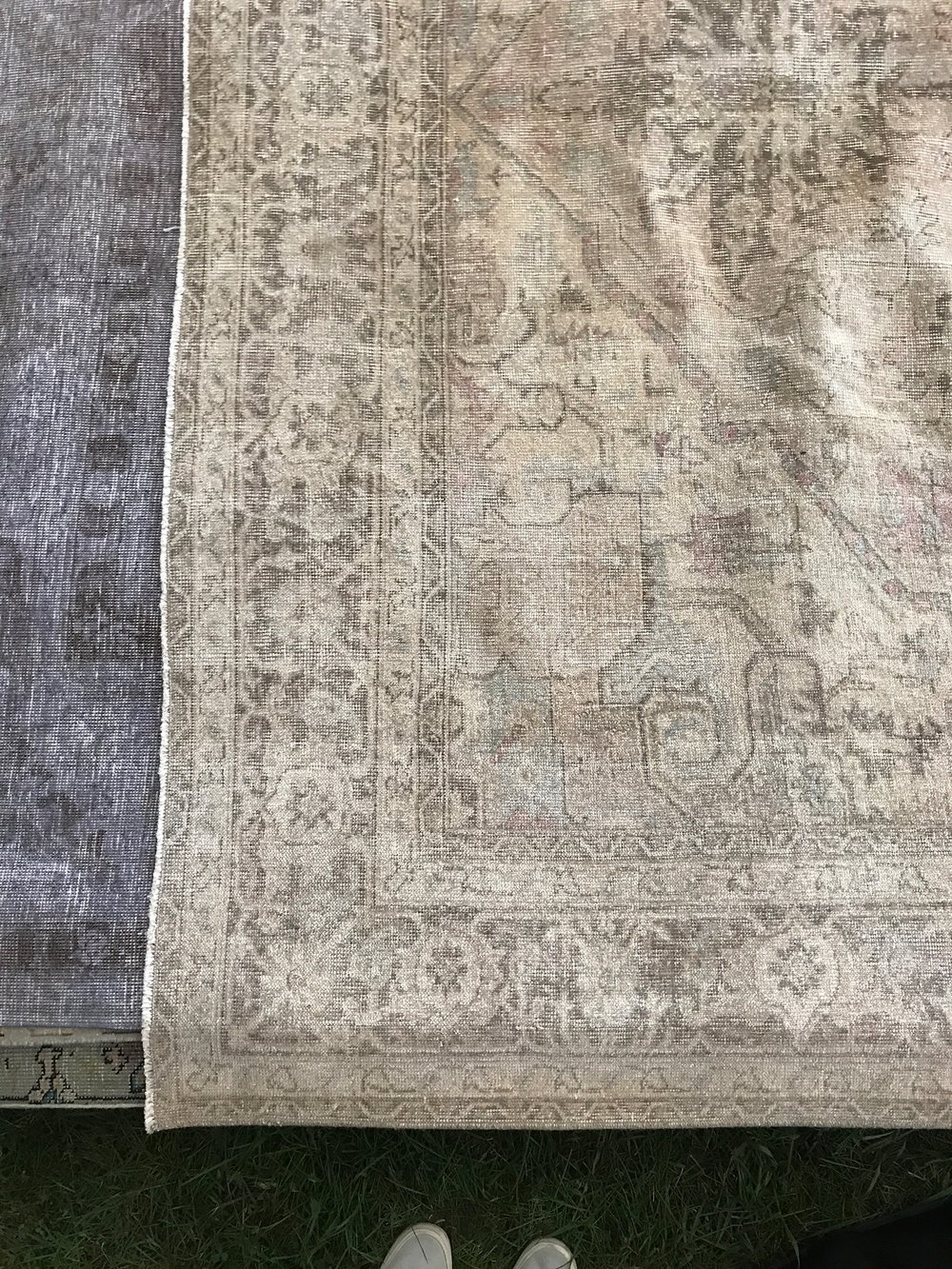 These rugs are from Nomad Trading Co and are to die for in person. The perfect amount of subtle color and pattern.