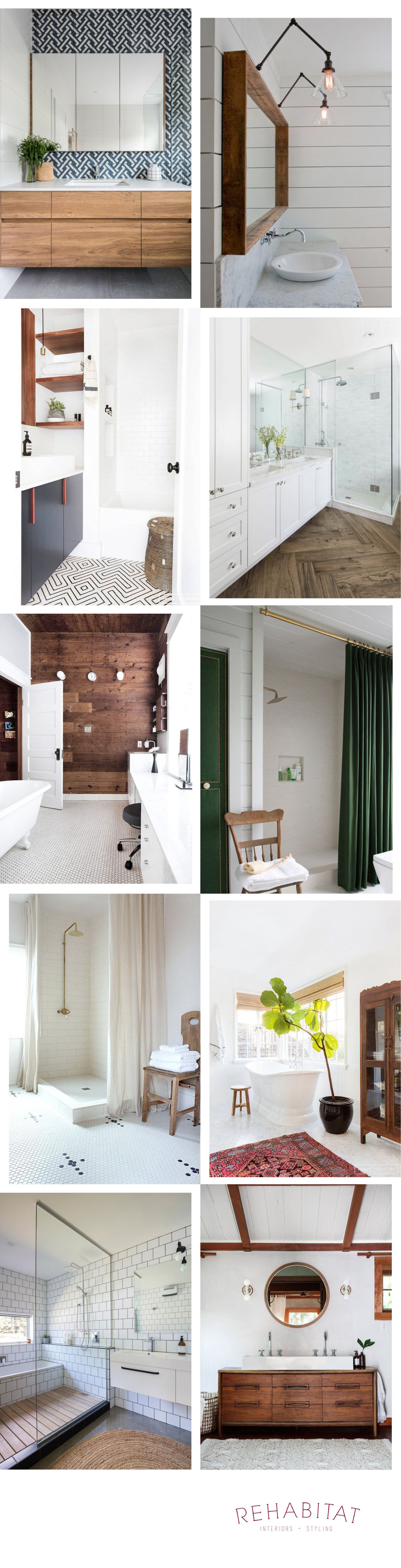 Rehabitiat | Repinned: Wood in the Bathroom | rehabitat-interiors.com
