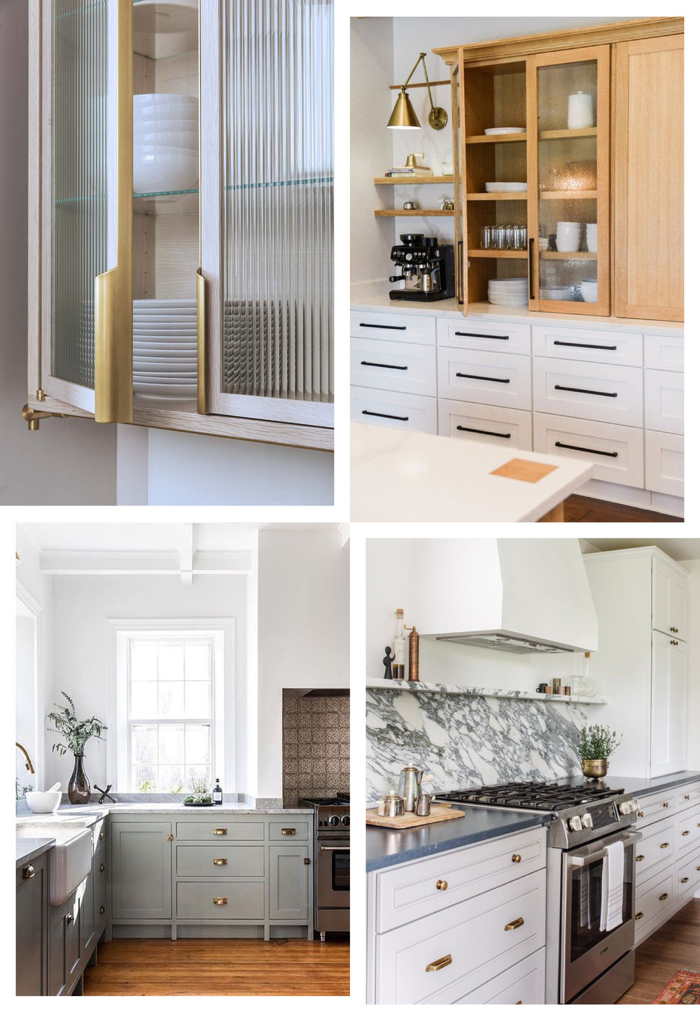 Clockwise from top left:  @hammerandspear  |  @westend.interiors  |  @alison_giese  |  @blockbrotherscc