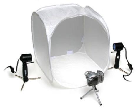 Figure 1- Some companies sell  cheap portable photo-kits  that will greatly increase your photo quality   Photograph. June, 2009. Courtesy of  Mobilevenue.com.