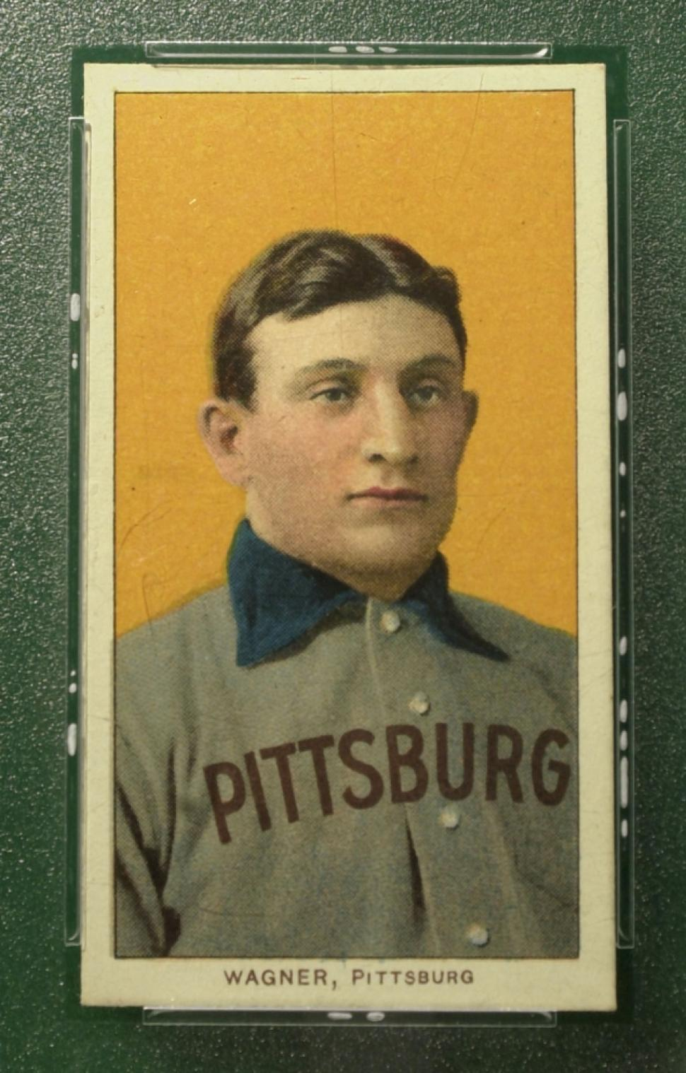 The T206 Honus Wagner, possibly the most famous baseball card of all time.