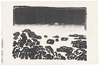 Thumbnail image:Kōsaka Gajin (Japanese, b.1887, d.1953), Darkness Over , circa 1950, woodcut, The Howard and Caroline Porter Collection, 1986.1436