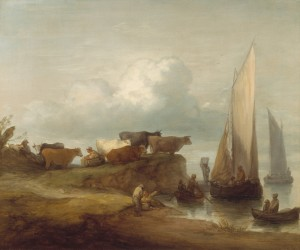 Image: Thomas Gainsborough (English, 1727–1788), A Coastal Landscape, about 1782–84, oil on canvas. The Berger Collection at the Denver Art Museum, TL-18382