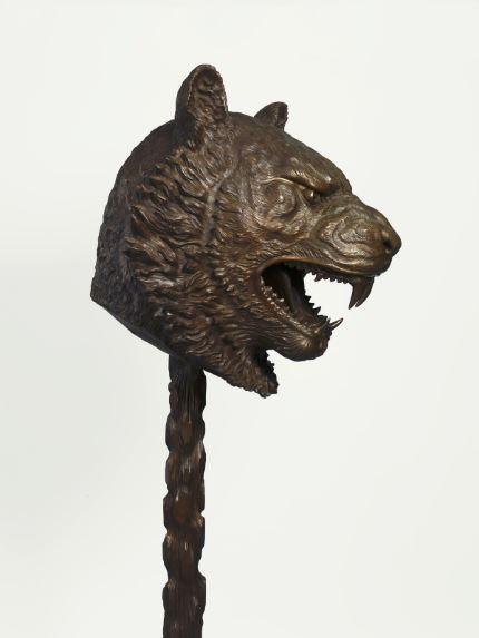 "Ai Weiwei Circle of Animals/Zodiac Heads, 2010 Bronze Tiger 129"" high x 53"" wide x 62"" deep Private Collection The Speed Art Museum presentation is generously sponsored by an anonymous donor, with additional support from William C. Ballard Jr and Julie Ballard"