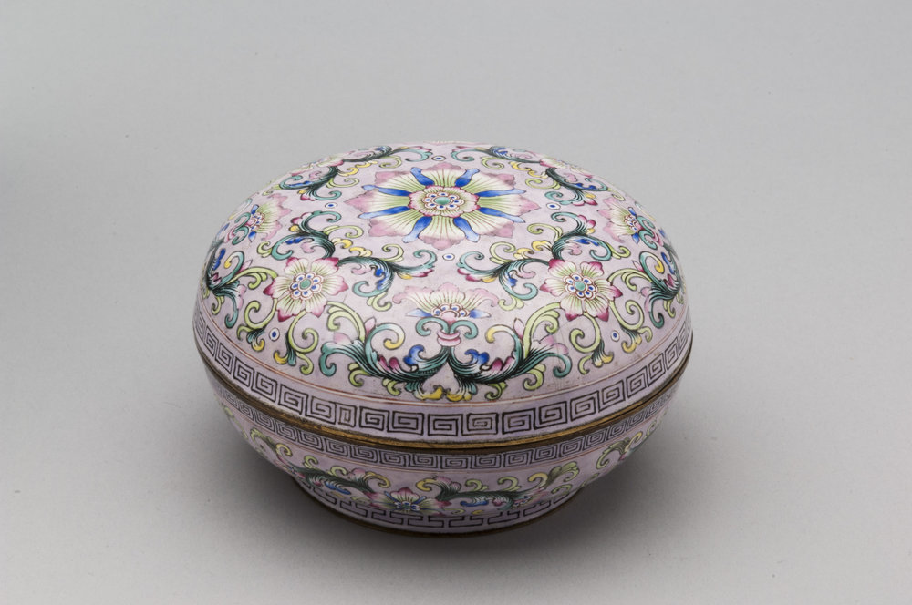 Image:  Round Potpourri , 18th century, China, Qing dynasty (1644-1911), enamel on copper. Taft Museum of Art, Bequest of Compton Allyn, 2014.001.49