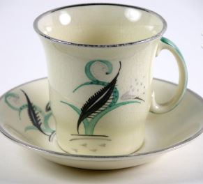 Designed by Susie Cooper, Manufactured by The Crown Works,  Burslem, England English, about 1933 Coffee Service  Earthenware Partial and promised gift, Adele and Leonard Leight Collection 2005.23.10 a-